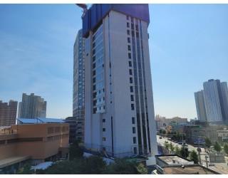 2021.07.23  옥상층 견출작업. 18층~20층 창호보강 및 유리시공