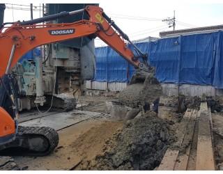 센터파일 타설 및 센터파일 작업완료 2019.03.12