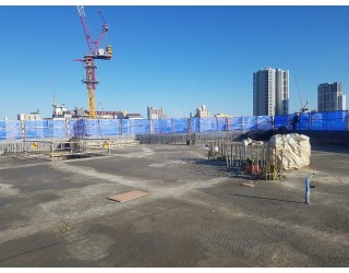 2019.12.06 지상 4층 바닥 콘크리트 타설 완료
