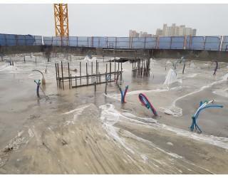 2020.08.05 지상 16층 바닥 콘크리트 타설 완료