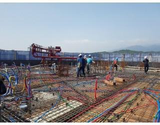 2020.06.05 지상 13층 바닥 콘크리트 타설 완료