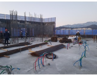 2020.02.07  지상 8층 바닥 콘크리트 타설 완료